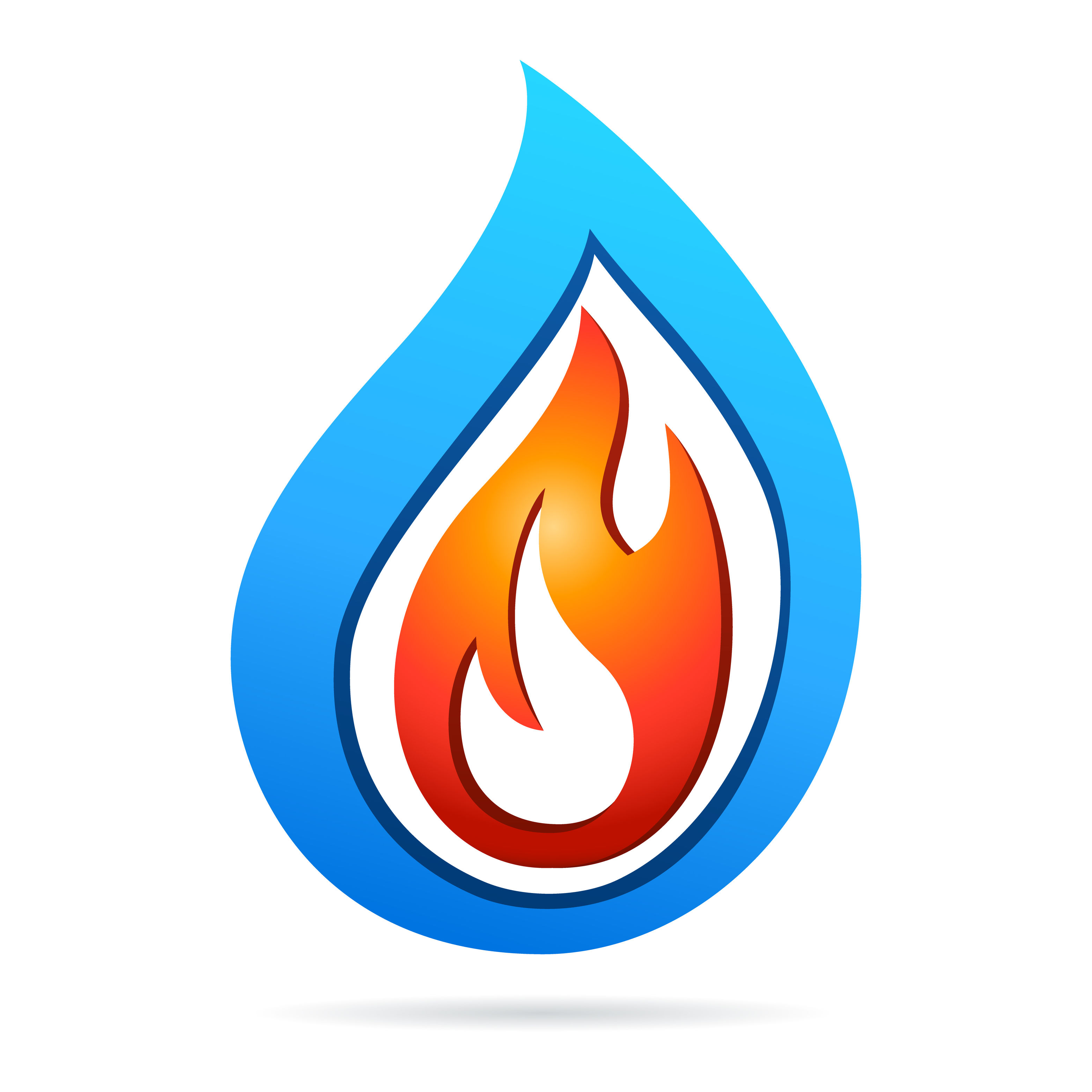 26041443 - fire and water - icon design