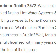 plumb dublin desrciption