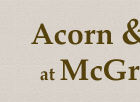 Mc Greals @ Acorn & Oak Logo