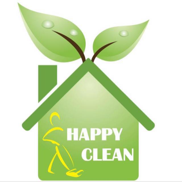 logo happy clean